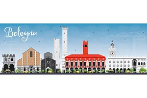 Bologna Skyline with Landmarks