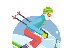 Skier on Slope