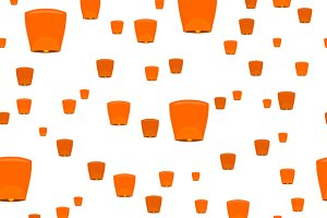 Pattern with Sky Lanterns