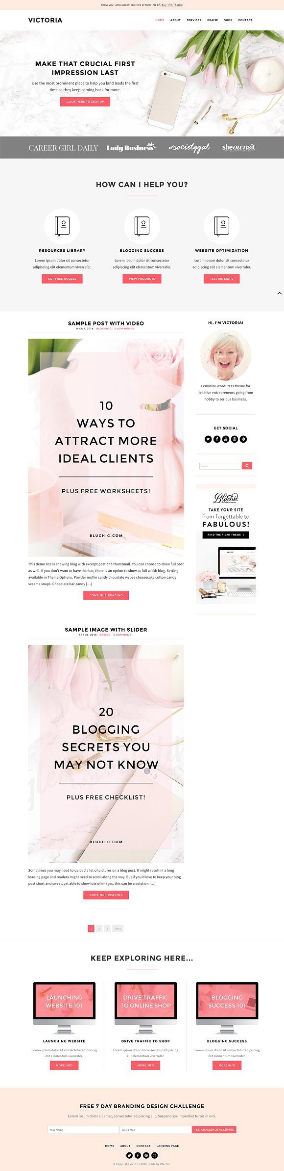 Victoria - Blog & eCommerce Theme