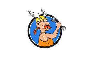 Viking Repairman Spanner Circle