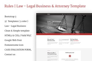 Rules | Law Website Templates