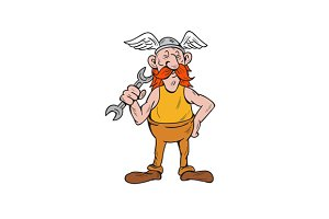 Viking Repairman Standing Spanner