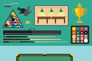 Billiards pool game accessories