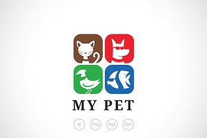 Family Pet Store Logo Template