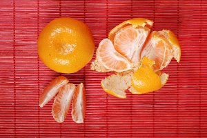 juicy yellow and tangerines