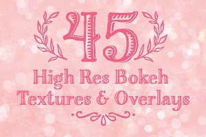 45 High Res Bokeh Texture Overlays