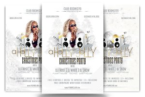 Holly Jolly Christmas Flyer Template