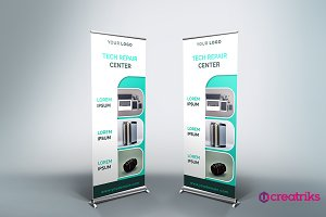 Tech Products Roll Up Banner - v039