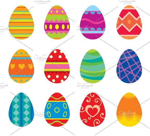 Easter eggs vector in Illustrations