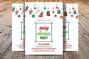 Merry Christmas Party Flyer V1
