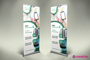 Mobil Shop Roll Up Banner - v044
