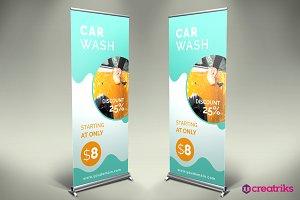 Car Wash Roll Up Banner - v047