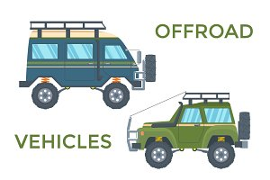 Offrad Vehicles with Roof Rack
