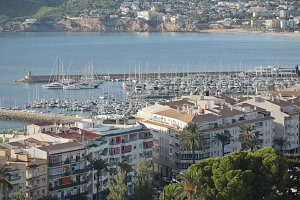Views of the village of Altea