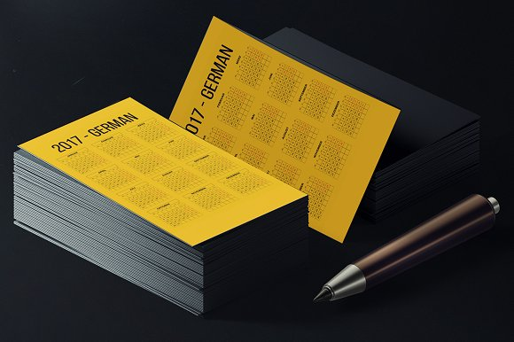German Pocket Calendar 2017