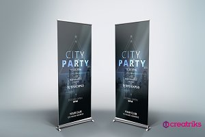 Party Roll Up Banner - v050