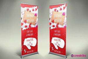 Handmade Roll Up Banner - v048