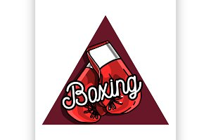 Color vintage Boxing emblem