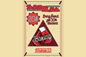 Color vintage Boxing poster