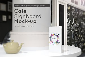 Cafe Sign Mock-up