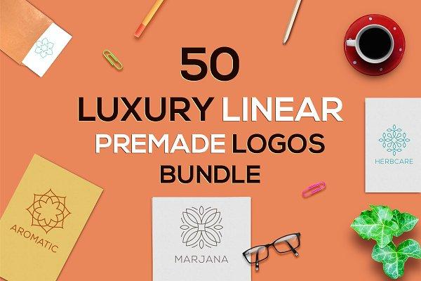 50 Luxury Linear Premade Logo Pack