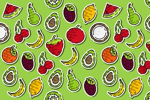 Colored fruits pattern