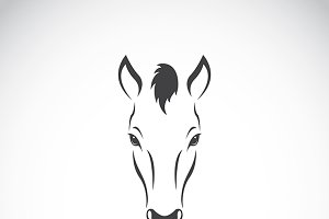 Vector image of a horse head design.