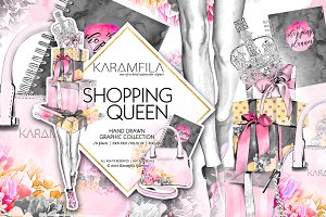 Shopping Queen Fashion Clipart