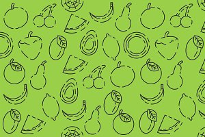 Fruits set pattern