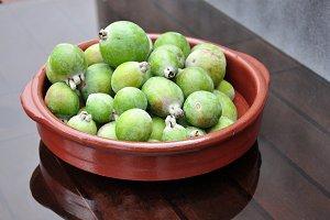 green gavas in dish