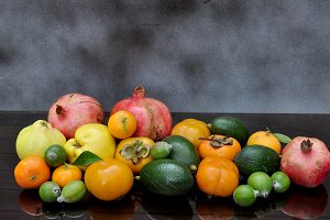 abundance of autumn fruits