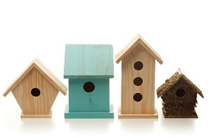 Different birdhouses