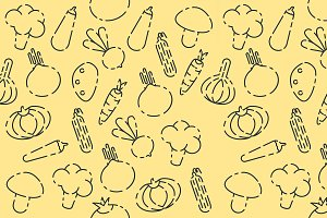 Vegetables set pattern