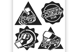 Vintage Boxing emblems