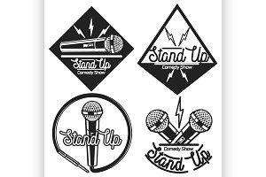 Stand up comedy show emblems