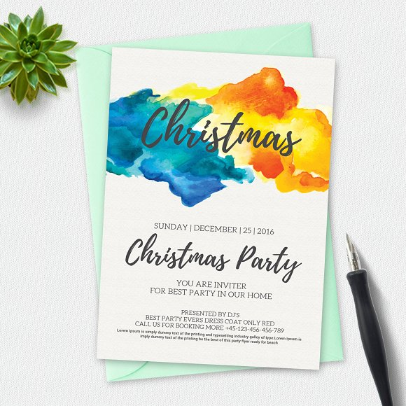Christmas Flyer Template Flyer Templates on Creative Market – Christmas Flyer Template