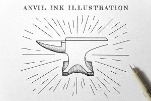 Anvil - Ink Illustration
