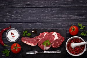 Raw meat steak entrecote