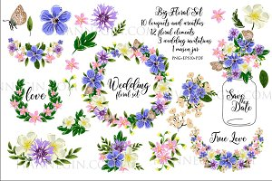 27 floral clipart 3 wedding invite