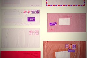 Retro look letter envelope
