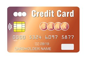 Credit card contacless payment chip