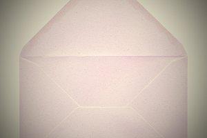 Retro look letter envelope