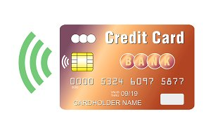 Credit card contactless payment chip