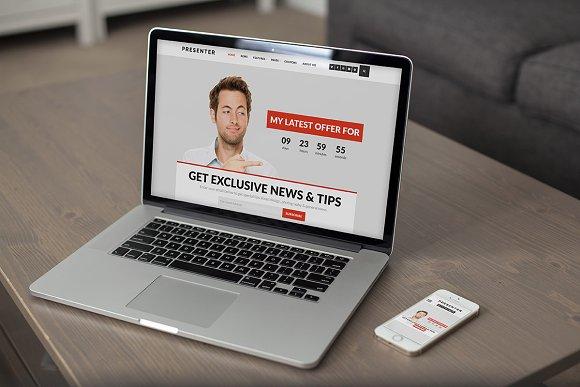 Presenter – Theme for Entrepreneurs in WordPress Minimal Themes - product preview 1