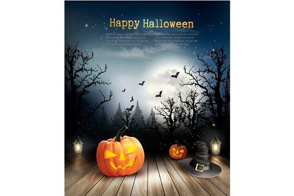 Halloween spooky background. Vector - Illustrations