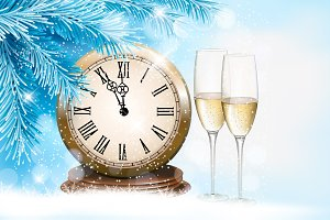 Holiday background with champagne