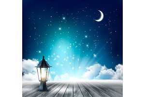 Beautiful magical night background