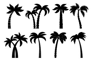 Palm tree black set