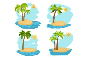 Palm trees islands